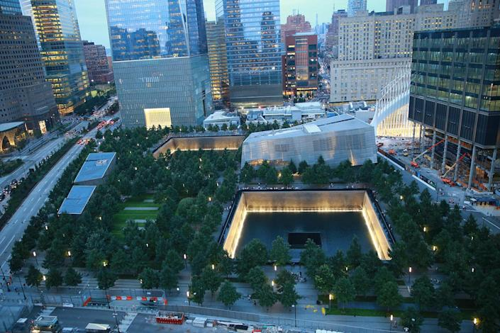 <p>A view of the mall and buildings at The National September 11 Memorial & Museum in New York City. (Photo: Gordon Donovan/Yahoo News) </p>