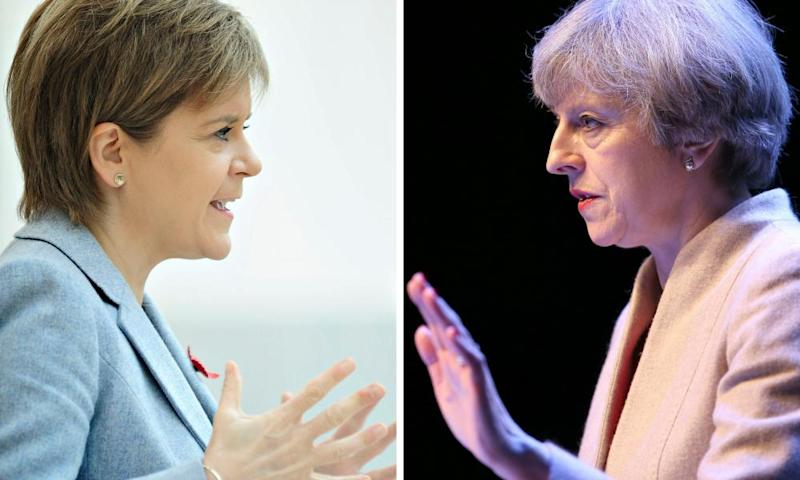 Nicola Sturgeon and Theresa May.