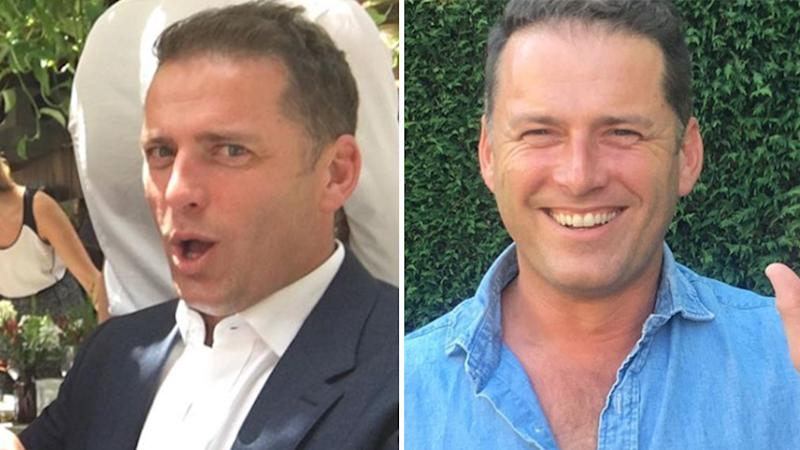 Two photos of Karl Stefanovic.