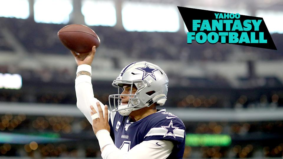 Dallas Cowboys QB Dak Prescott's injured shoulder is of major concern heading into Week 16 for owners looking to win their fantasy championships. (Photo by Tom Pennington/Getty Images)