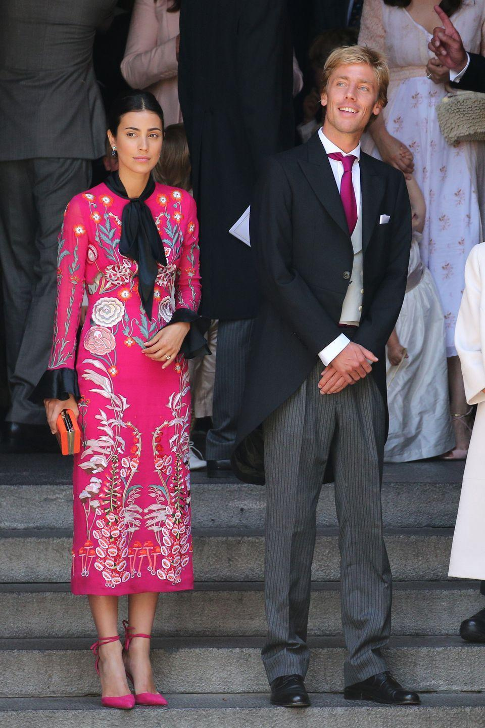 <p>A native of Peru, de Osma met Prince Christian of Hanover when she served as his tour guide during one of his visits to her country in 2005. The lawyer and former model married her prince in an extravagant ceremony in the streets of Lima, Peru in 2018. </p>
