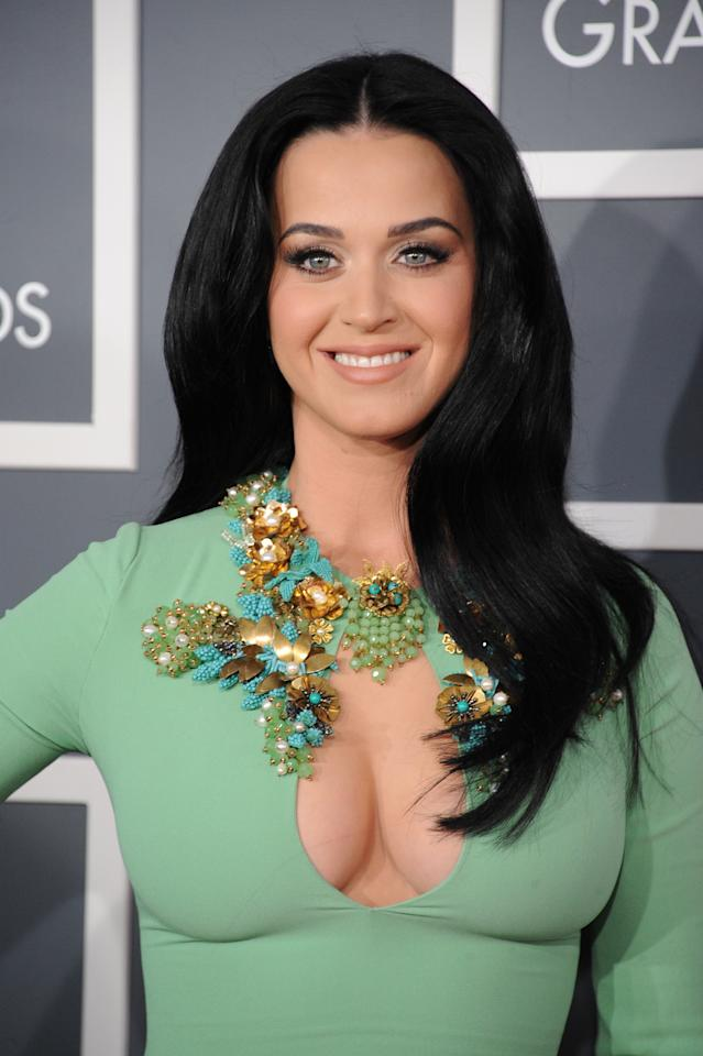 LOS ANGELES, CA - FEBRUARY 10:  Singer Katy Perry attends the 55th Annual GRAMMY Awards at STAPLES Center on February 10, 2013 in Los Angeles, California.  (Photo by Steve Granitz/WireImage)