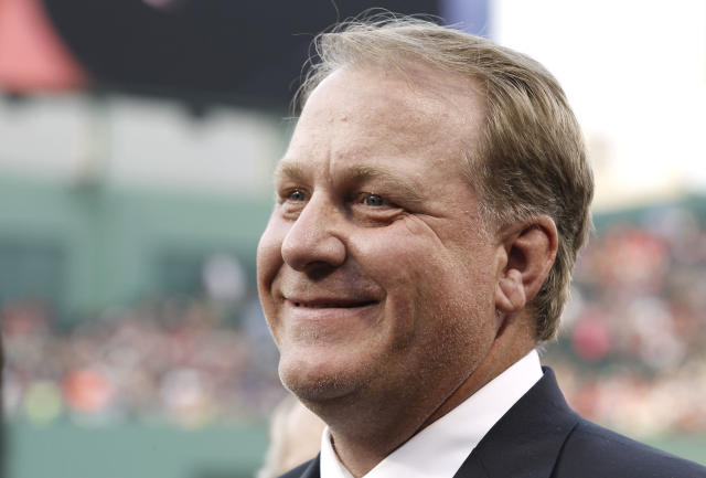 Curt Schilling saw his vote totals rebound for the Hall of Fame despite being punished in 2017. (AP Photo/Winslow Townson)