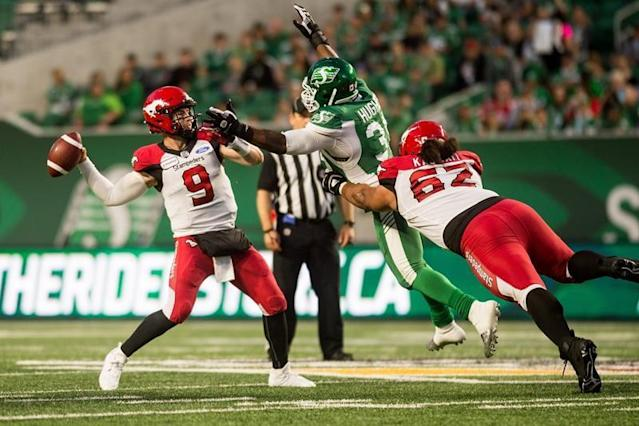 "REGINA — Nick Arbuckle took a page from Cody Fajardo's book and ran with it.In his first career CFL start, Arbuckle overshadowed his quarterback counterpart and led the Calgary Stampeders to an impressive 37-10 victory over the Saskatchewan Roughriders.""He's a confident kid,"" said Calgary head coach Dave Dickenson, as his team improved to 2-1. ""He did a nice job handling the noise. You can tell he knows what he's doing … he's letting the defence take him to his throws. He's not afraid to take a chance.""Arbuckle, filling in for the injured Bo Levi Mitchell, completed 19-of-22 pass attempts for 262 yards and two touchdowns in a game Calgary led throughout.""He'll have to keep doing it. That's always the tough thing – to do it again, again and again,"" Dickenson added. ""But I do think he'll probably have that opportunity for the next few weeks.""It was the second consecutive game in which Arbuckle led the Stampeders to victory. Last week, he entered the game in the fourth quarter and rallied his team to a victory over the visiting B.C. Lions.On Saturday, he had plenty of support.""There were so many guys out there making plays,"" he said. ""Our offensive line played phenomenal. Both of our running backs stepped up and played really well. Everybody was clicking and focused on what they were supposed to do.""Calgary's first possession of the game was a sign of things to come. A 10-play, 73-yard drive was capped with a two-yard touchdown run from Ka'Deem Carey. Carey and Terry Williams combined to rush for 122 yards against a usually stout Saskatchewan defence.The Riders dropped to 1-3.Calgary led 15-3 at halftime and poured it on in the second half.After a one-yard touchdown run by Fajardo on Saskatchewan's opening possession of the third quarter, Arbuckle responded with a five-play, 103-yard drive that ended with a 19-yard touchdown pass to Eric Rogers.The ensuing Saskatchewan possession saw Tre Roberson intercept a Fajardo pass and return it 48 yards for a touchdown to put the Stampeders ahead 30-10.Arbuckle finished his night with a 76-yard touchdown pass to Reggie Begelton late in the fourth quarter.Begelton had four catches for 102 yards and Rene Parades kicked three field goals.""There were a lot of nerves before the game,"" Arbuckle said. ""I think they went away after a play or two, especially after I got hit.""It was fun to play from ahead the whole time. Obviously the 108-yard touchdown drive we had was really a big difference maker.""With Mitchell, the reigning CFL Most Outstanding Player, on the six-game injured list, the starting quarterback job is Arbuckle's to run with.""Calgary has been the team to beat… and they have been the team to beat in the CFL,"" Ed Gainey, Saskatchewan defensive back, told the media. ""They're like the (New England) Patriots of this league. It seems like they can never do wrong no matter who's in the game. They always find a way to get it done.""Fajardo couldn't continue his solid play from the previous two games. He struggled against the defending Grey Cup champs and completed nine of 15 pass attempts for 89 yards. He was intercepted twice before he was replaced with Isaac Harker in the fourth quarter.In his first two career starts, Fajardo threw for 790 yards, including 430 yards just five days ago in a win over the Toronto Argonauts.Fajardo credited a strong Calgary defence that ""made him uncomfortable.""""I put this game on me,"" he said. ""I definitely underperformed. I turned the ball over twice, which is a no-no in this league. I scrambled a little bit when I didn't have to.""The Riders will have an extra week to correct their mistakes. They're on a bye week before they return July 20 to host the B.C. Lions.Calgary will travel to Hamilton on Saturday to take on the Tiger-Cats. Craig Slater, The Canadian Press"