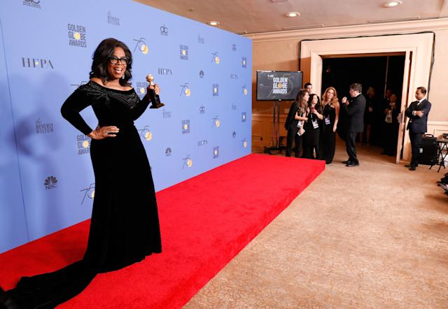 Oprah for president? Social media approves. (Photo: Getty Images)