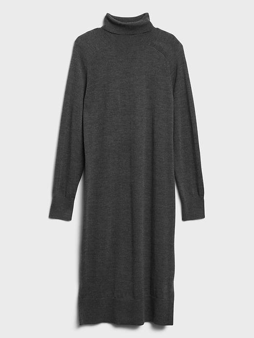 <p>And if you'd prefer a turtleneck, try this <span>Banana Republic Washable Merino Turtleneck Sweater Dress</span> ($139).</p>