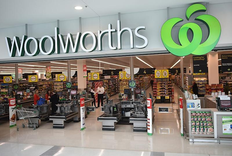 Pictured: Woolworths store front. Image: Getty