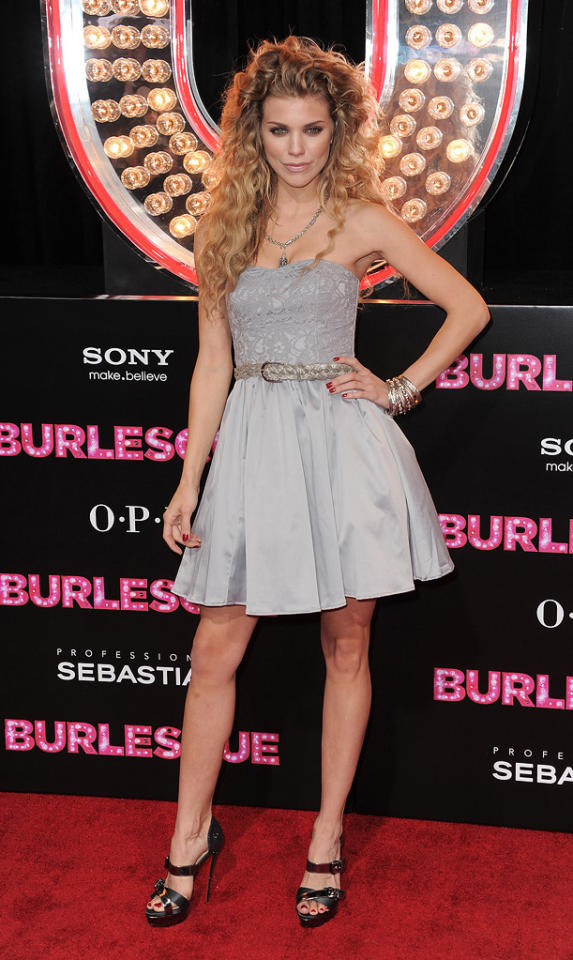 """<a href=""""http://movies.yahoo.com/movie/contributor/1809743048"""">AnnaLynne McCord</a> at the Los Angeles premiere of <a href=""""http://movies.yahoo.com/movie/1810125282/info"""">Burlesque</a> on November 15, 2010."""