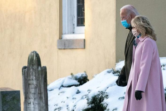 Joe Biden often prays at St. Joseph on the Brandywine church in Wilmington, where members of his family are buried including son Beau, who died in 2015