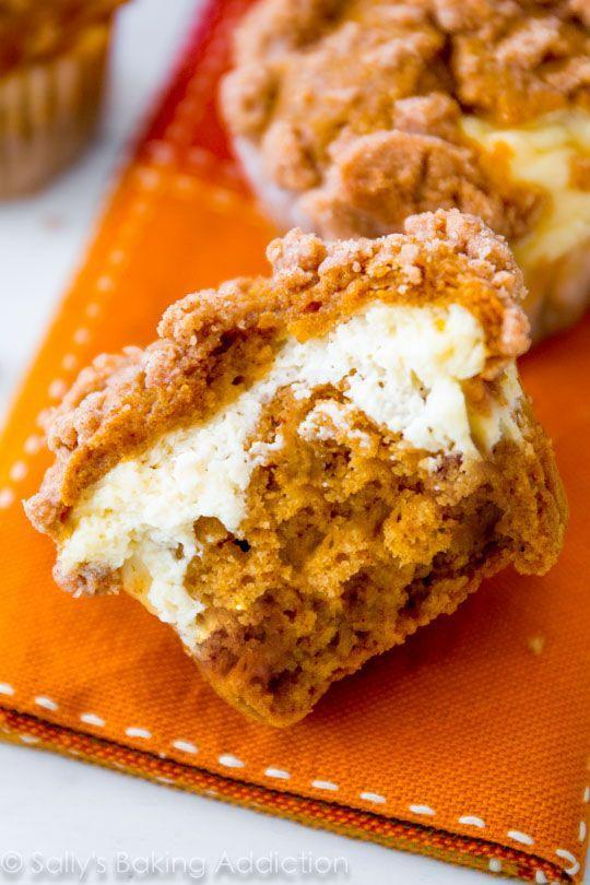 "<p>Starbucks has nothing on these.</p><p>Get the recipe from <a href=""http://sallysbakingaddiction.com/2013/10/24/pumpkin-cheesecake-muffins/"" rel=""nofollow noopener"" target=""_blank"" data-ylk=""slk:Sally's Baking Addiction"" class=""link rapid-noclick-resp"">Sally's Baking Addiction</a>.</p>"