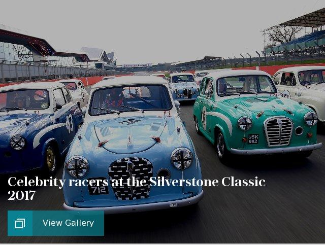 Celebrity racers at the Silverstone Classic 2017