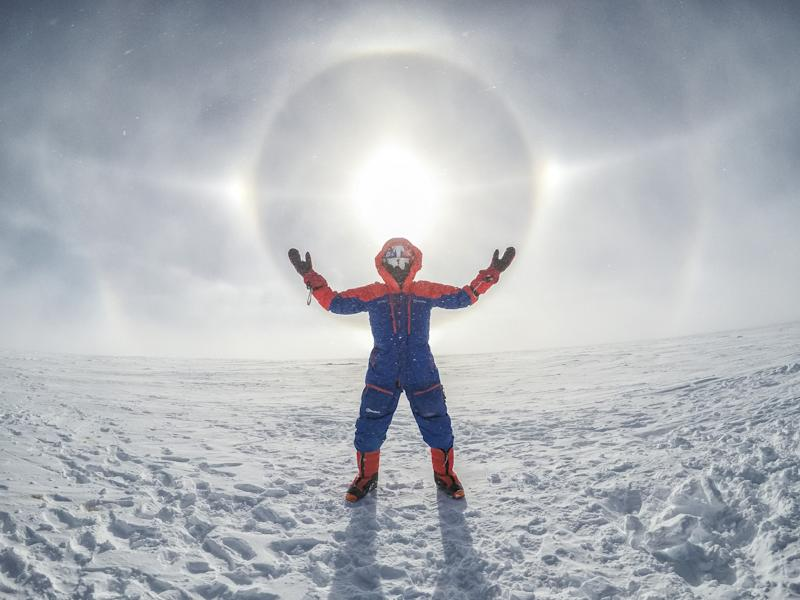 Adventurer Leo said part of his climb involved battling 'some of the most hostile conditions on Earth'. (SWNS)
