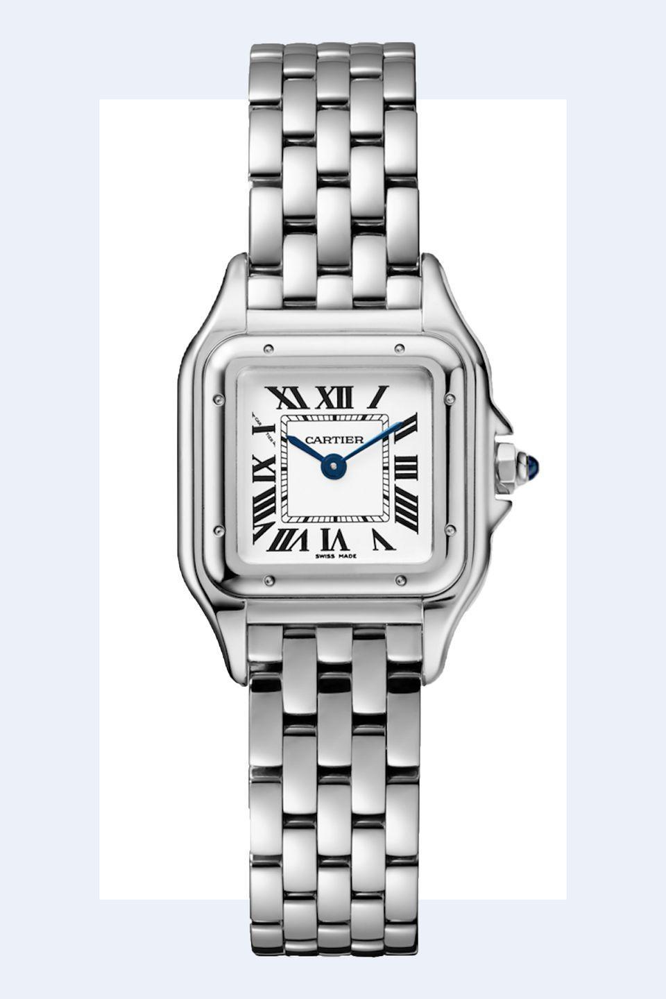 """<p><a rel=""""nofollow noopener"""" href=""""https://www.cartier.com/en-us/collections/watches/womens-watches/panth%C3%A8re-de-cartier/wspn0006-panth%C3%A8re-de-cartier-watch.html?gclid=CjwKCAjwoMPcBRAWEiwAiAqZhzmrcH6P9VsOu0VabjZXJpX6FLIAYo2m8Q7a4IFRQW_4OvWvlyDwdBoC0EMQAvD_BwE&gclsrc=aw.ds&dclid=CJ_TxpHmpt0CFQ-dyAod5KYCiA"""" target=""""_blank"""" data-ylk=""""slk:SHOP NOW"""" class=""""link rapid-noclick-resp"""">SHOP NOW</a> <em>Cartier Watch, $4,000</em></p><p>""""<strong>Fashion is always changing</strong> but you should be sure to have a nice watch. Maybe you can't afford a classic Cartier tank, but if you know what it looks like then you can easily find something similar."""" -<em><a rel=""""nofollow noopener"""" href=""""https://www.studiocavaco.com/"""" target=""""_blank"""" data-ylk=""""slk:Paul Cavaco"""" class=""""link rapid-noclick-resp"""">Paul Cavaco</a></em></p>"""