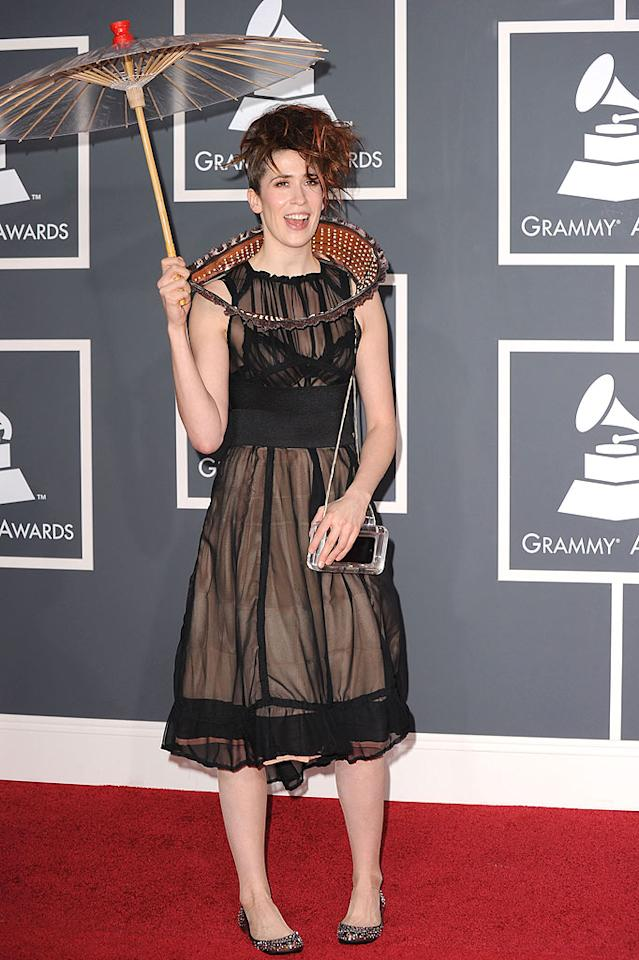 """Imogen Heap  Grade: F   The eccentric Frou Frou singer's """"Twitter Dress"""" may have featured its own Twitter feed, but it was about fashionable as a Friendster account. Jeffrey Mayer/<a href=""""http://www.wireimage.com"""" target=""""new"""">WireImage.com</a> - January 31, 2010"""