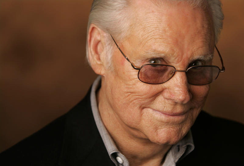 "FILE - In this Jan. 10, 2007 file photo, George Jones is shown in Nashville, Tenn. A funeral service for Jones will take place on Thursday, May 2, 2013 at The Grand Ole Opry House in Nashville. Jones, the peerless, hard-living country singer who recorded dozens of hits about good times and regrets and peaked with the heartbreaking classic ""He Stopped Loving Her Today,"" died April 26, 2013 at Vanderbilt University Medical Center in Nashville. He was 81. (AP Photo/Mark Humphrey, file)"