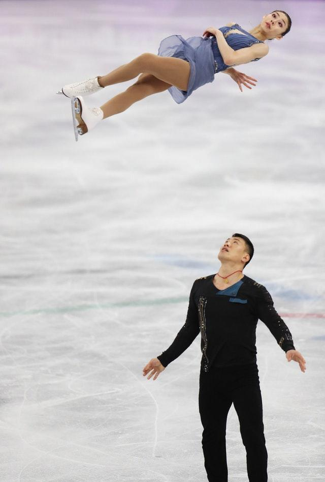 China's Hao Zhang and Yu Xiaoyu compete in the free skate section of the pairs figure skating final during the Winter Olympics. The athletic and aesthetic pursuit proved alluring to spectators in Pyeongchang, South Korea
