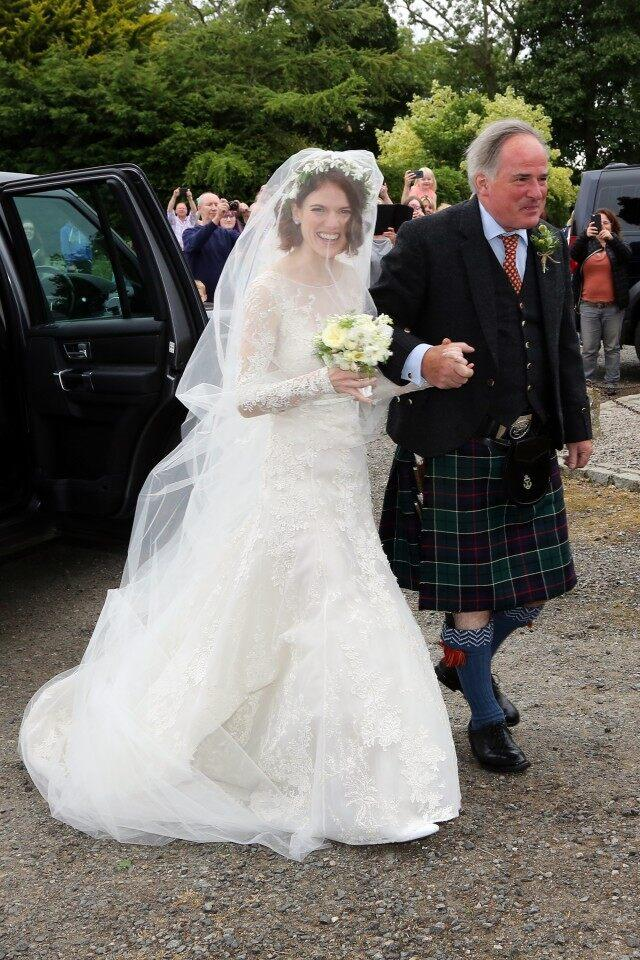 Rose Leslie Elie Saab wedding dress