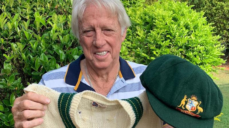 JEFF THOMSON DONATES RARE BAGGY GREEN