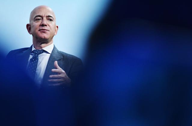 Jeff Bezos, CEO e fundador da Amazon, e homem mais rico do mundo. Foto: MANDEL NGAN/AFP via Getty Images