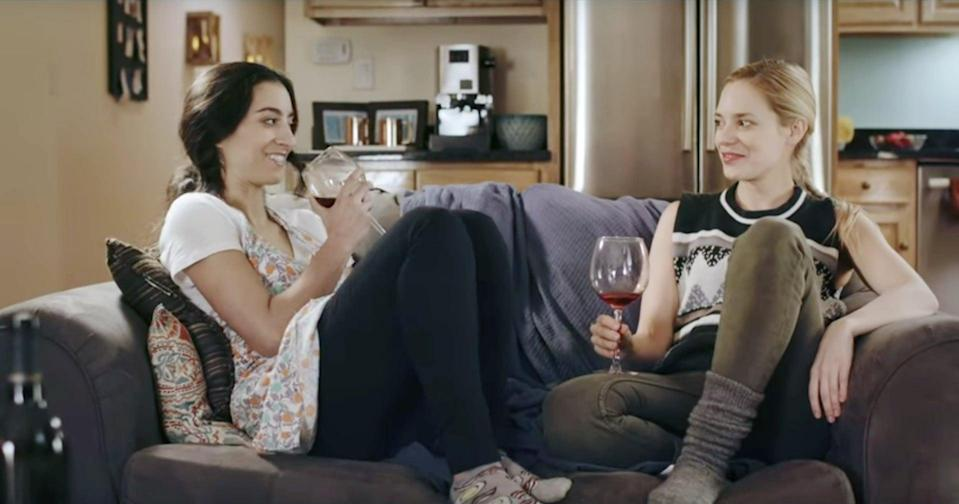 """<p>In this goofy romantic comedy, a closeted woman brings her girlfriend home for Thanksgiving with the intention of coming out. Unfortunately, her plans are interrupted by the unexpected addition of her male roommate. </p> <p><a href=""""http://www.netflix.com/watch/81034763"""" class=""""link rapid-noclick-resp"""" rel=""""nofollow noopener"""" target=""""_blank"""" data-ylk=""""slk:Watch Lez Bomb on Netflix now"""">Watch <strong>Lez Bomb</strong> on Netflix now</a>.</p>"""