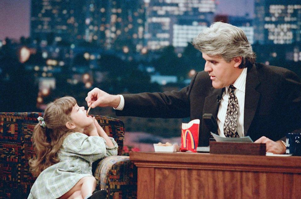 <p>We're not exactly sure what's going on here, all we know is that Jay fed four-year-old genius Stephanie Gobran during an interview on October 28, 1996.</p>
