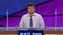 """<p>Arthur Chu, an insurance compliance analyst from Cleveland, Ohio, kickstarted a pop culture frenzy during his 11-game streak in 2014, which netted him $297,200. Chu's aggressive, game theory-fueled style of play, in which he hopscotched around the board in search of Daily Doubles rather than playing through each category in linear fashion, scandalized <em>Jeopardy! </em>Nation, which denounced him as everything from """"smug"""" to """"evil"""" to """"an emotionless villain."""" Chu embraced the title of <em>Jeopardy! </em>Villain, <a href=""""https://www.theguardian.com/tv-and-radio/2014/feb/24/arthur-chu-jeopardy-misunderstood-mastermind-game-theory"""" rel=""""nofollow noopener"""" target=""""_blank"""" data-ylk=""""slk:saying"""" class=""""link rapid-noclick-resp"""">saying</a>, """"I'm just up there being a machine, playing the game. Mowing through the questions mechanically with this detached mien like a crazy person. That is not the most likable side of me."""" After <em>Jeopardy!</em>, Chu gained renown as a writer, speaking out about nerd culture and stridently opposing the Gamergate movement. </p>"""