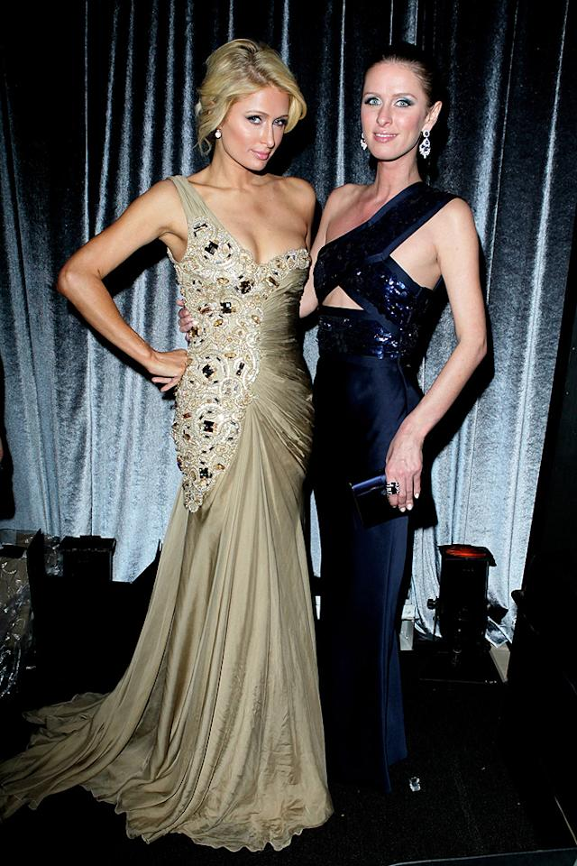 BEVERLY HILLS, CA - JANUARY 15:  Paris Hilton (L) and Nicky Hilton attend The Weinstein Company's 2012 Golden Globe Awards After Party held at The Beverly Hilton hotel on January 15, 2012 in Beverly Hills, California.  (Photo by Jeff Vespa/Getty Images for TWC)