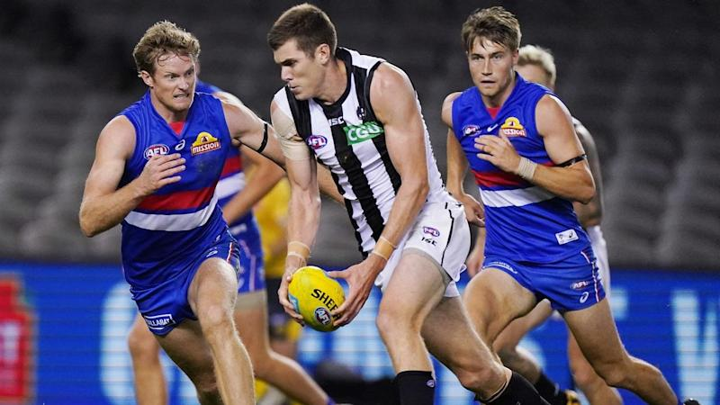 AFL BULLDOGS MAGPIES