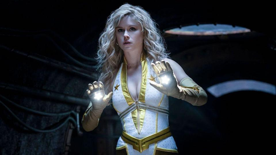 The Boys' Starlight wears her supersuit and creates laser spheres in her palms.