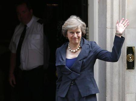 Britain's Home Secretary Theresa May arrives for a cabinet meeting at number 10 Downing Street, in central London, Britain July 12, 2016.     REUTERS/Neil Hall