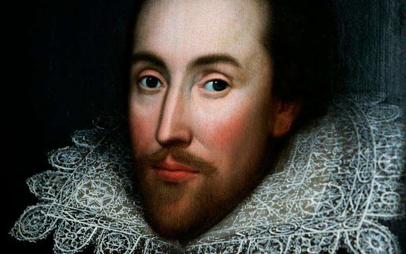 A detail of a portrait of Shakespeare discovered in 2009 - Credit: Lefteris Pitarakis/AP