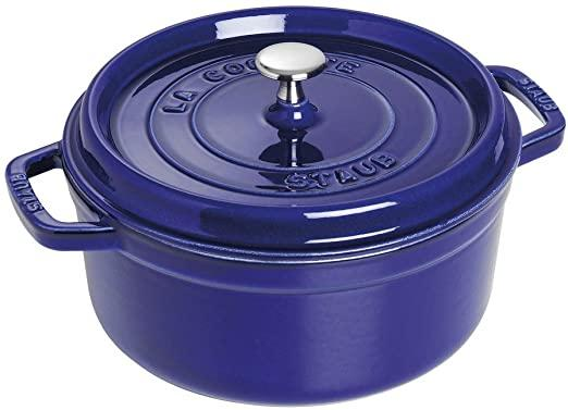 Amazon.com: STAUB Round Cocotte, 4 quart, Dark Blue: Casseroles: Kitchen &  Dining
