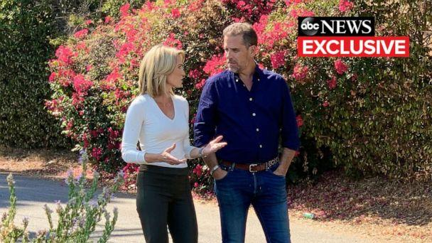PHOTO: ABC's Amy Robach talks with Hunter Biden during an exclusive interview. (ABC News)
