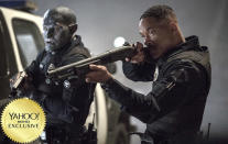 "<p><a href=""https://www.yahoo.com/movies/tagged/david-ayer"" data-ylk=""slk:David Ayer"" class=""link rapid-noclick-resp"">David Ayer</a>'s thriller stars <a href=""https://www.yahoo.com/movies/tagged/will-smith"" data-ylk=""slk:Will Smith"" class=""link rapid-noclick-resp"">Will Smith</a> as a cop who teams up with an Orc (<a href=""https://www.yahoo.com/movies/tagged/joel-edgerton"" data-ylk=""slk:Joel Edgerton"" class=""link rapid-noclick-resp"">Joel Edgerton</a>) in an alternative-reality version of L.A. where fantastical creatures dwell alongside humans. Think <em>Beverly Hills Cop</em> meets <a href=""https://www.yahoo.com/movies/film/the-lord-of-the-rings"" data-ylk=""slk:The Lord of the Rings"" class=""link rapid-noclick-resp""><em>The Lord of the Rings</em></a>. 