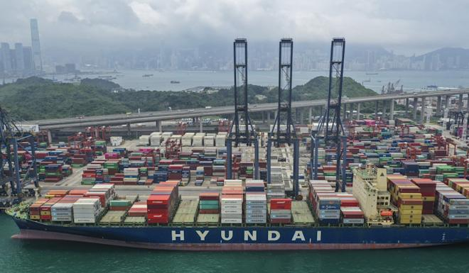 The Kwai Tsing Container Terminal supports capacity for 24 cargo ship berths among five operators. Photo: Roy Issa