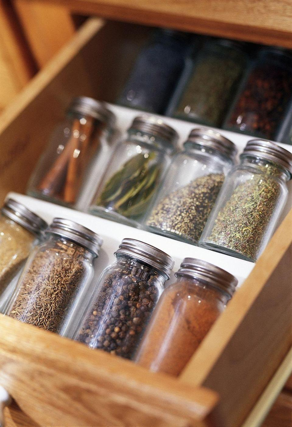 <p>Spices and fresh or dried herbs can be super pricey at the grocery store, but you do have options. You can purchase dried herbs and spices in bulk at a warehouse store for a cheaper price. </p><p>Instead of buying fresh herbs, you can plant them yourself (they're low-maintenance and easy to grow) so that you always have an abundance. If there's an ethnic market near you, you may be able to find spices for a much lower price as well. </p>