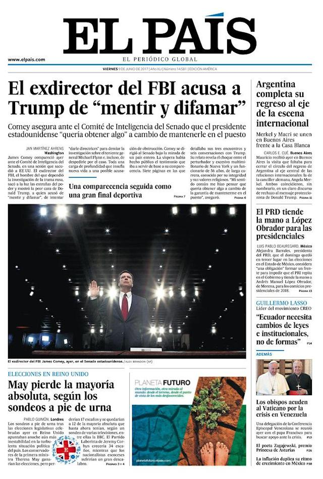 "<p>""El Pais,"" published in Madrid, Spain. (Newseum) </p>"
