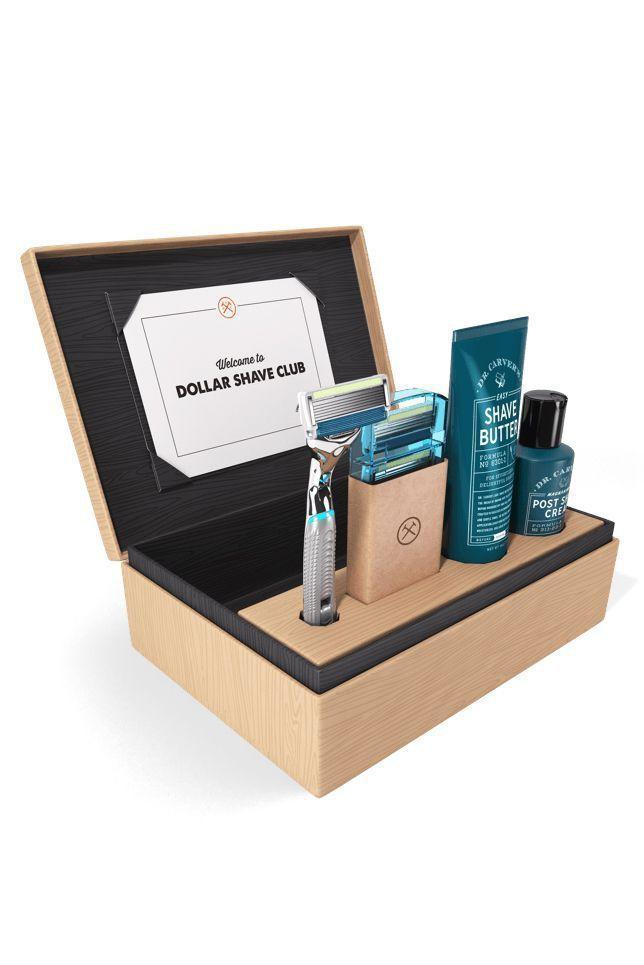 """<p><strong>Dollar Shave Club </strong></p><p>dollarshaveclub.com</p><p><a href=""""https://go.redirectingat.com?id=74968X1596630&url=https%3A%2F%2Fwww.dollarshaveclub.com%2Fgift&sref=https%3A%2F%2Fwww.goodhousekeeping.com%2Fholidays%2Ffathers-day%2Fg21274147%2Flast-minute-fathers-day-gifts%2F"""" rel=""""nofollow noopener"""" target=""""_blank"""" data-ylk=""""slk:Shop Now"""" class=""""link rapid-noclick-resp"""">Shop Now</a></p><p>Remembering to swap out his razor blade is probably the last thing on his mind. Enter this high-quality kit, which delivers replacement blades and other shaving needs monthly. </p>"""