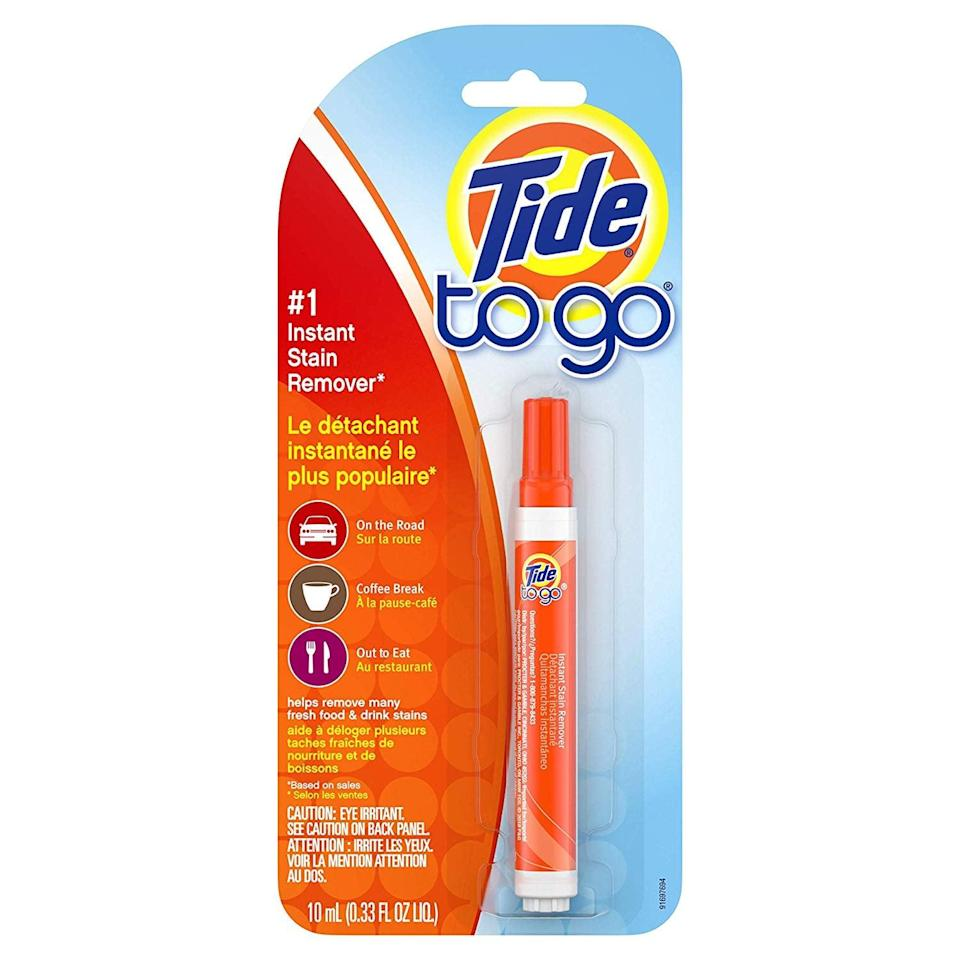 <p>We all know how eating in the car goes, and if you spill, the <span>Tide To Go Instant Stain Remover</span> ($5) will be your hero. </p>