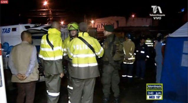 Rescuers at the scene of the plane crash. Source: 7News
