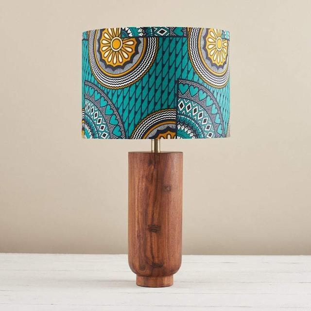 bespoke binny african print lampshade black-owned home brands