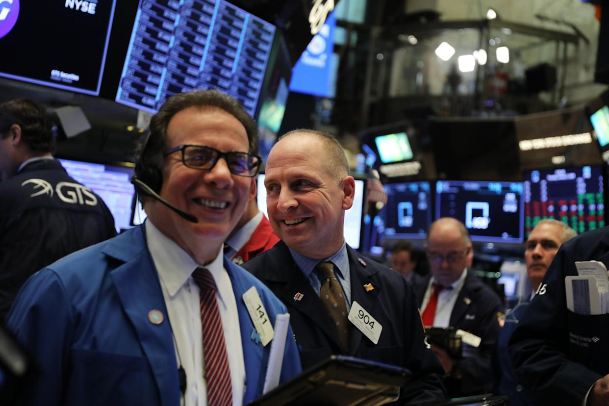 U.S. stock futures rose as investors awaited further details of the outcome on trade talks between delegations from the U.S. and China, which unexpectedly extended into a third day. (Photo by Spencer Platt/Getty Images)