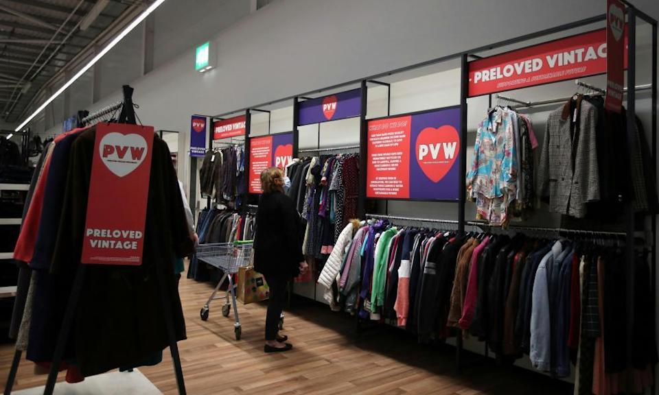 A 'preloved vintage' secondhand clothing point in Asda, Leeds
