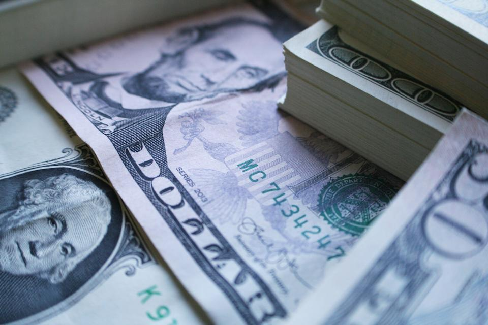 American Currency In Cash Close Up