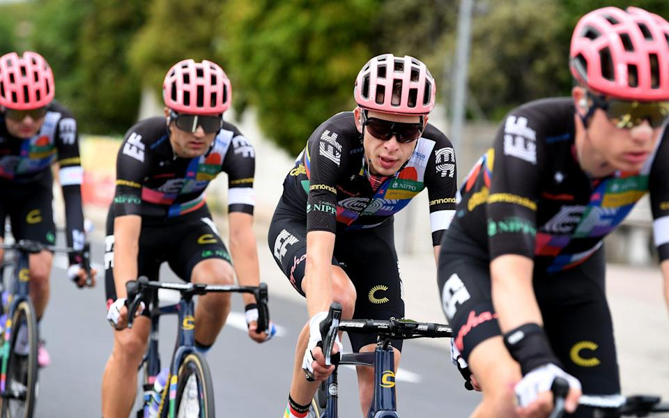 Hugh Carthy and his EF Education-Nippo team-mates -Giro d'Italia 2021, stage 14 – live updates - GETTY IMAGES