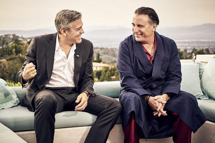 George Clooney and Andy Garcia reunite for a new Nespresso commercial.