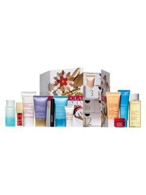 "<p><strong>Clarins</strong></p><p>saksfifthavenue.com</p><p><strong>$60.00</strong></p><p><a href=""https://go.redirectingat.com?id=74968X1596630&url=https%3A%2F%2Fwww.saksfifthavenue.com%2Fclarins-12-day-advent-calendar%2Fproduct%2F0400010906697&sref=https%3A%2F%2Fwww.townandcountrymag.com%2Fstyle%2Fbeauty-products%2Fnews%2Fg2919%2Fbeauty-advent-calendars%2F"" rel=""nofollow noopener"" target=""_blank"" data-ylk=""slk:Shop Now"" class=""link rapid-noclick-resp"">Shop Now</a></p><p><strong>Best For: </strong>The beauty lover who wants to be coddled.</p><p><strong>What's Inside: </strong>Skincare favorites from this luxe French brand, including a lip oil, moisturizing eye mask, cleansers, moisturizers, and more. </p>"