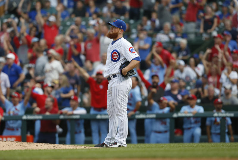 Cubs $43 million closer Craig Kimbrel is having a dreadful season. (Photo by Nuccio DiNuzzo/Getty Images)
