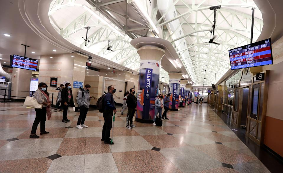As opposed to the thousands of commuters that crowded Penn Station during the afternoon rush hour before there COVID-19 pandemic, the terminal was far quieter at the height of rush hour Oct. 28, 2020.