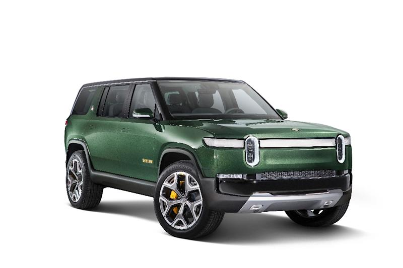 Electric car startup Rivian, whose prototyope R1S vehicle is seen here, has received $700 million in a funding round led by Amazon as it prepares to launch its cars in 2020
